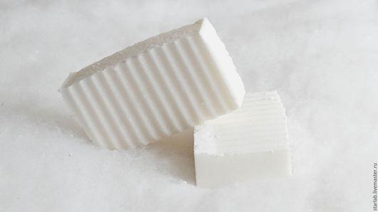 Мыло ручной работы. Ярмарка Мастеров - ручная работа. Купить Мыло соляное с ментолом. Handmade. Белый, соляное мыло