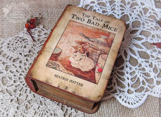 Шкатулки ручной работы. Ярмарка Мастеров - ручная работа. Купить Книга-шкатулка. Handmade. Комбинированный, сказка, мышки, винтаж