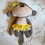 Куклы Тильда ручной работы. Ярмарка Мастеров - ручная работа Подушка-игрушка Обезьянка. Handmade.