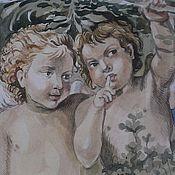 Картины и панно ручной работы. Ярмарка Мастеров - ручная работа Акварель ,,ангелы,,. Handmade.