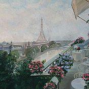 """Картины и панно ручной работы. Ярмарка Мастеров - ручная работа Картина """"Вечер в Париже"""". Handmade."""
