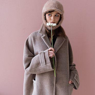 Одежда ручной работы. Ярмарка Мастеров - ручная работа Пальто из шерсти альпака.. Handmade.