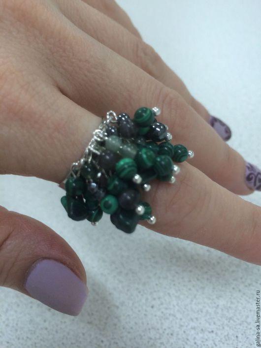 Кольца ручной работы. Ярмарка Мастеров - ручная работа. Купить малахитовое кольцо Май. Handmade. Зеленый, кольцо с камнем, малахит