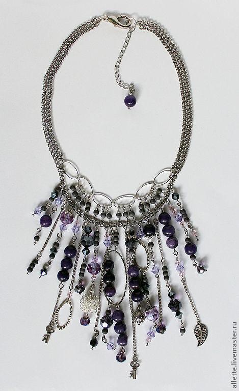 Колье, бусы ручной работы. Ярмарка Мастеров - ручная работа. Купить Purple Tenderness. Handmade. Тёмно-фиолетовый, ожерелье, фиолетовый