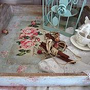 """Для дома и интерьера ручной работы. Ярмарка Мастеров - ручная работа Поднос """"Цветущий сад """". Handmade."""