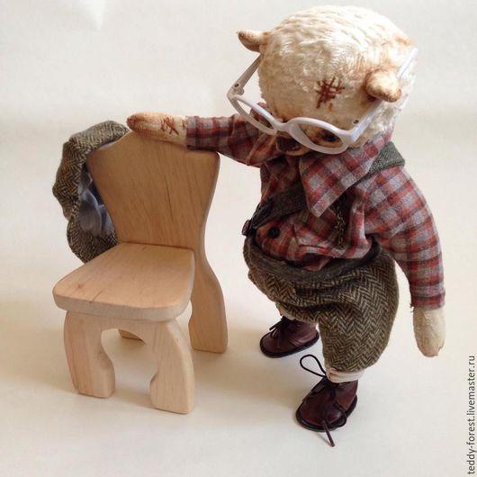 Миниатюра ручной работы. Ярмарка Мастеров - ручная работа. Купить Деревянный Стул Ольха. Handmade. Бежевый, подарок на любой случай