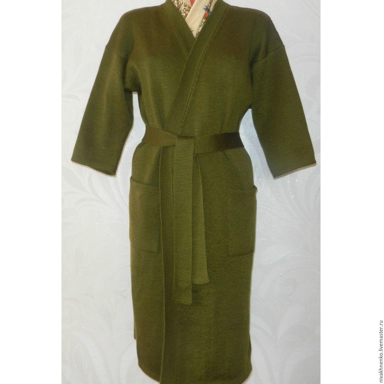 Outer Clothing handmade. Livemaster - handmade. Buy Coat womens knitted oversized.Oversized, khaki, coat knitted, women's coat