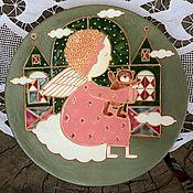 """Тарелки ручной работы. Ярмарка Мастеров - ручная работа Блюдо """" Ангел"""". Handmade."""