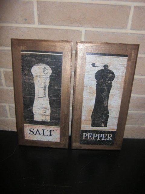 """Натюрморт ручной работы. Ярмарка Мастеров - ручная работа. Купить Парное панно """"Соль и Перец"""". Handmade. Панно, панно на кухню"""