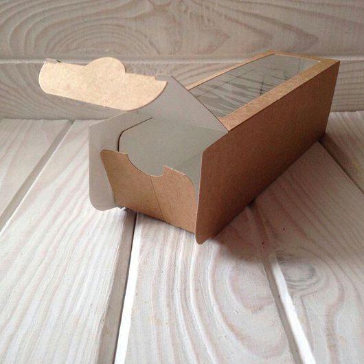 Упаковка ручной работы. Ярмарка Мастеров - ручная работа. Купить Коробочка на 6 макаронс  (100шт). Handmade. Крафт, упаковка
