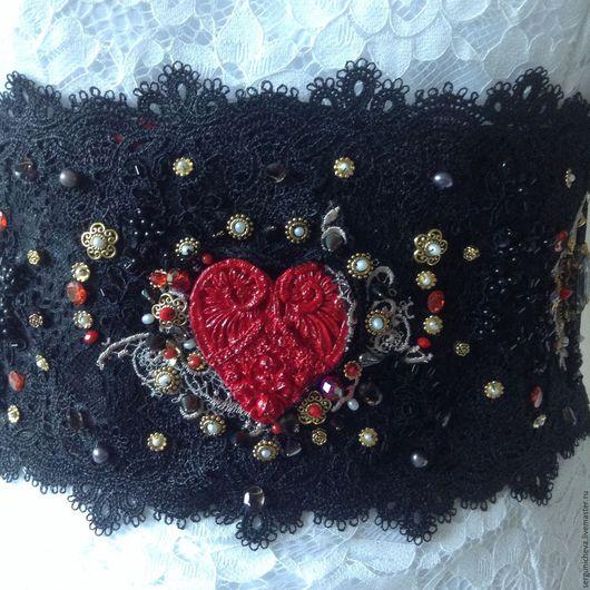 """Пояса, ремни ручной работы. Ярмарка Мастеров - ручная работа. Купить Пояс""""Мy Matador""""в стиле DG. Handmade. Испания, сердце"""