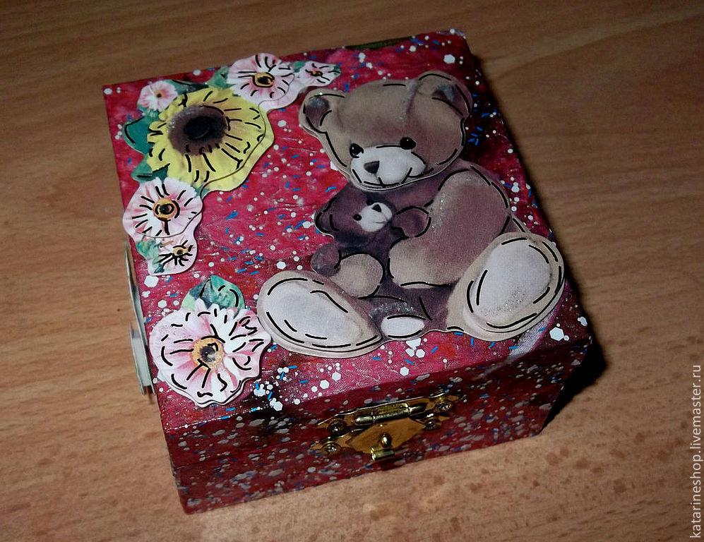 Милая шкатулочка в подарок для милых сердцу безделушек, , Чебоксары, Фото №1