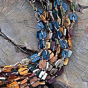 Украшения ручной работы. Ярмарка Мастеров - ручная работа колье из полимерной глины Таёжная сказка. Handmade.