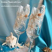 """Свадебный салон ручной работы. Ярмарка Мастеров - ручная работа Свадебные фужеры """"Афродита"""". Handmade."""