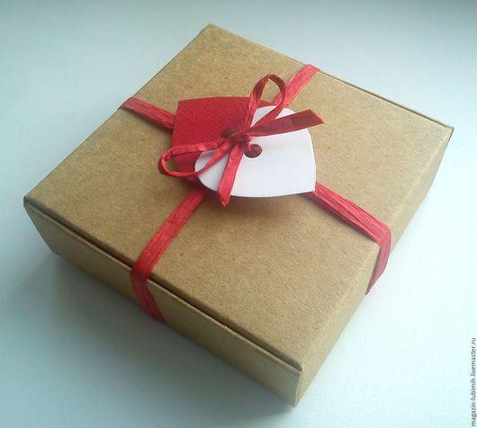 Упаковка ручной работы. Ярмарка Мастеров - ручная работа. Купить Коробочка крафт (3 размера). Handmade. Коробка, подарочная коробка