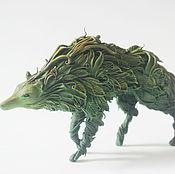 Куклы и игрушки ручной работы. Ярмарка Мастеров - ручная работа Фигурка травяной волк , лесной волк. Handmade.