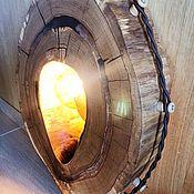 Потолочные и подвесные светильники ручной работы. Ярмарка Мастеров - ручная работа Светильник в стиле лофт из дуба с лампой Эдисона. Handmade.