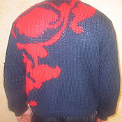 Одежда ручной работы. Ярмарка Мастеров - ручная работа свитер Олимпийский. Handmade.