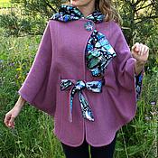 Одежда ручной работы. Ярмарка Мастеров - ручная работа Жакет пончо  из буклированной шерсти. Handmade.