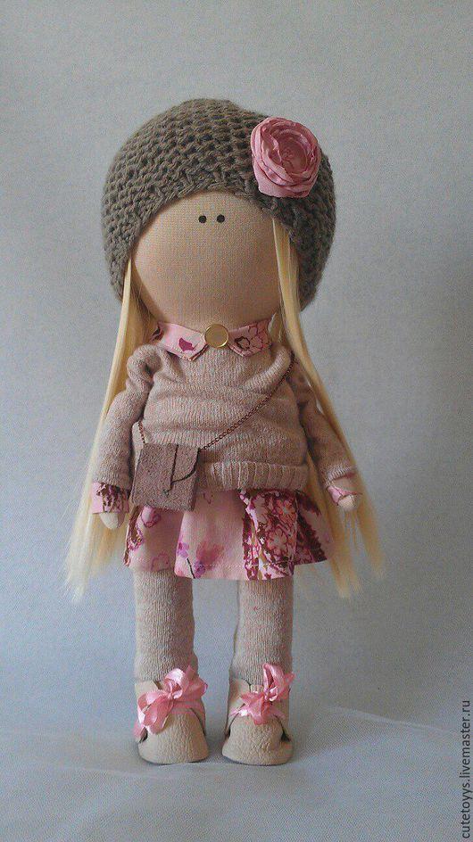 Куклы тыквоголовки ручной работы. Ярмарка Мастеров - ручная работа. Купить Интерьерная кукла. Handmade. Розовый, в розовом платье