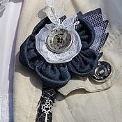 Свадебный салон ручной работы. Ярмарка Мастеров - ручная работа Бутоньерка  жениха для Джинсовой свадьбы. Handmade.