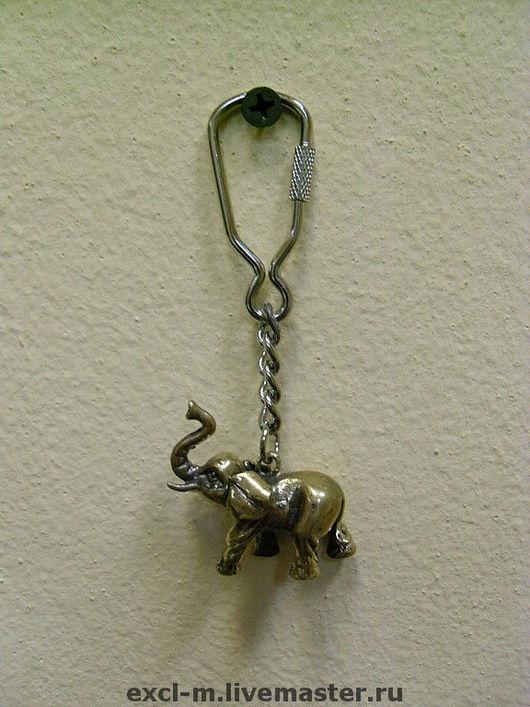 """Брелоки ручной работы. Ярмарка Мастеров - ручная работа. Купить Брелок """"Слон"""". Handmade. Слон, слоник, сувенир, латунь"""