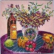 Картины и панно ручной работы. Ярмарка Мастеров - ручная работа Натюрморт с орхидеями. Handmade.