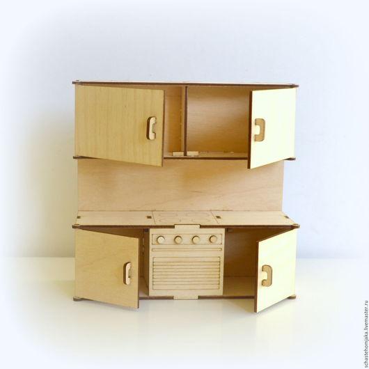 Кукольный дом ручной работы. Ярмарка Мастеров - ручная работа. Купить Кухня для кукольного домика. Handmade. Кукольная мебель, бежевый