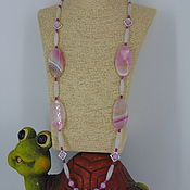 Украшения handmade. Livemaster - original item Long necklace (with pendant) made of natural stones
