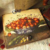 """Домики ручной работы. Ярмарка Мастеров - ручная работа Чайная шкатулка """"Sweet cherry"""". Handmade."""