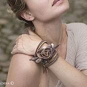 """Украшения ручной работы. Ярмарка Мастеров - ручная работа """"PalePinkKiss""""  войлочный браслет. Handmade."""