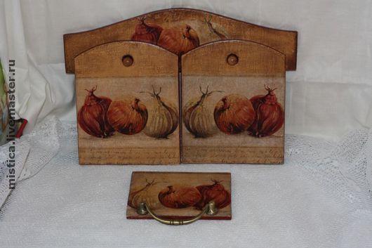 """Кухня ручной работы. Ярмарка Мастеров - ручная работа. Купить """"Многоликий лук"""" набор для кухни. Handmade. Дерево, лак, акрил"""