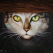 Картины и панно handmade. Livemaster - original item Oil painting Cat. Handmade.