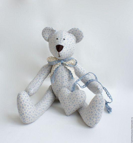 Куклы Тильды ручной работы. Ярмарка Мастеров - ручная работа. Купить Мишка тильда. Handmade. Голубой, подарок на 1 годик