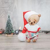 Куклы и игрушки handmade. Livemaster - original item Bear in Christmas cap. Handmade.
