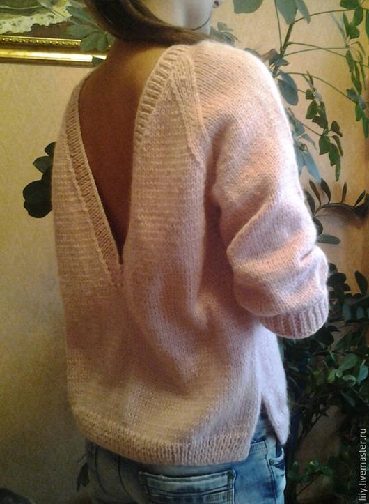 Кофты и свитера ручной работы. Ярмарка Мастеров - ручная работа. Купить мохеровый джемпер. Handmade. Разноцветный, акрил