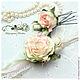 Свадебные аксессуары `Обаяние розы`. Ручная работа, Цветы из фоамирана. Низкая Маргарита.