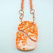 Украшения ручной работы. Ярмарка Мастеров - ручная работа кулон оранжевый. Handmade.