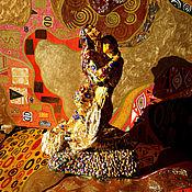 Для дома и интерьера handmade. Livemaster - original item Figurine Lovers on motives Gustav Klimt the Kiss. Handmade.