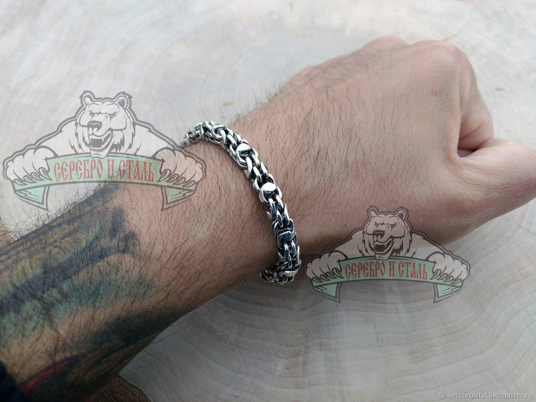 Серебро 925, браслет цепочка плетения милан мужской, Чокер, Санкт-Петербург,  Фото №1