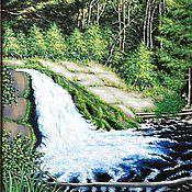 """Картины и панно ручной работы. Ярмарка Мастеров - ручная работа Картина """"Лесной ручей"""" Авторская работа. Пейзаж. Handmade."""