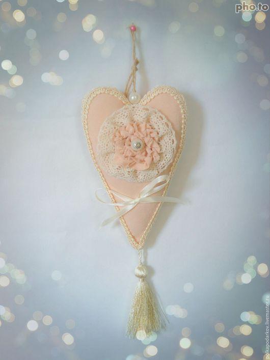 Свадебные аксессуары ручной работы. Ярмарка Мастеров - ручная работа. Купить Сердце-признание. Handmade. Бежевый, сердце в подарок