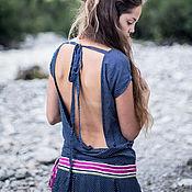Одежда handmade. Livemaster - original item Long dress with open back