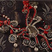 """Украшения ручной работы. Ярмарка Мастеров - ручная работа Комплект """"Осьминог"""". Handmade."""