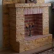 Для дома и интерьера ручной работы. Ярмарка Мастеров - ручная работа Декоративный камин. Handmade.