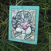 """Открытки ручной работы. Ярмарка Мастеров - ручная работа Авторская открытка """"Котёнок"""". Handmade."""