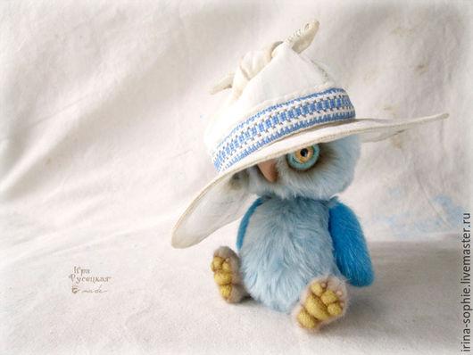 Мишки Тедди ручной работы. Ярмарка Мастеров - ручная работа. Купить Совёнок в шляпе. Тедди. Handmade. Голубой, друзья тедди