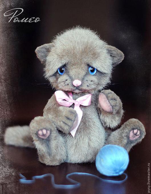 Мишки Тедди ручной работы. Ярмарка Мастеров - ручная работа. Купить Ромео котик. Handmade. Серый, голубой