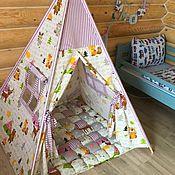 Для дома и интерьера handmade. Livemaster - original item Wigwam and rug for the children`s room. Handmade.
