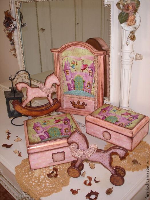 """Детская ручной работы. Ярмарка Мастеров - ручная работа. Купить Комплект в детскую """"Маленькие принцессы"""" (3). Handmade. Комплект для девочки"""